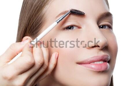 ストックフォト: 女性 · 眉毛 · フォーム · 美人 · 顔 · 美