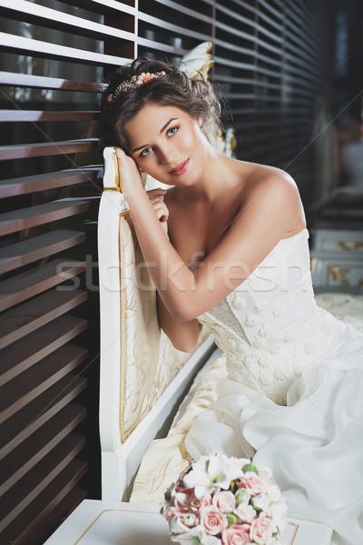 Gorgeous bride Stock photo © svetography