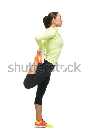 Beautiful girl making exercises Stock photo © svetography