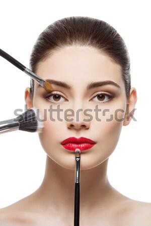 Bella ragazza mascara tubo bella Foto d'archivio © svetography