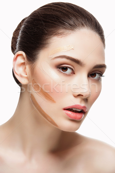 Girl with foundation Stock photo © svetography