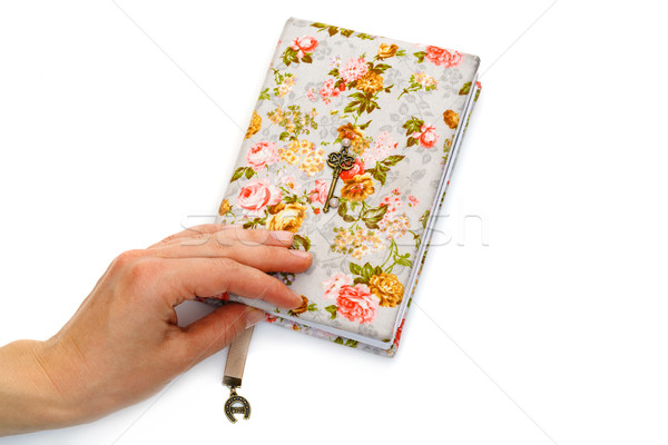 Handmade notebook with horseshoe bookmark Stock photo © svetography