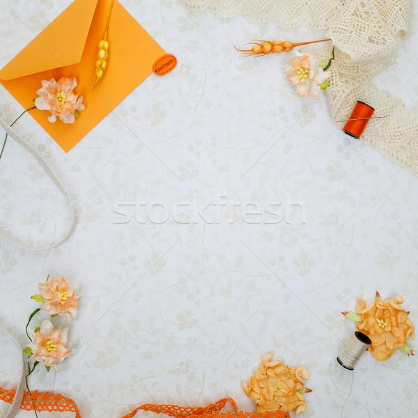 set of scrapbooking materials  Stock photo © svetography