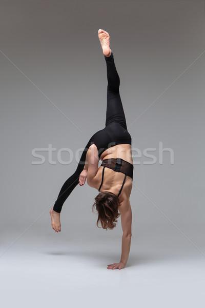 Stok fotoğraf: Güzel · bir · kadın · dansçı · güzel · genç · kadın · modern