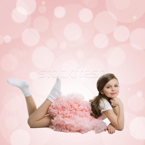 Little girl in tutu dress Stock photo © svetography