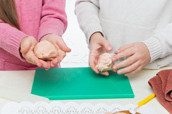 детей Рождества Cookies рук Сток-фото © svetography