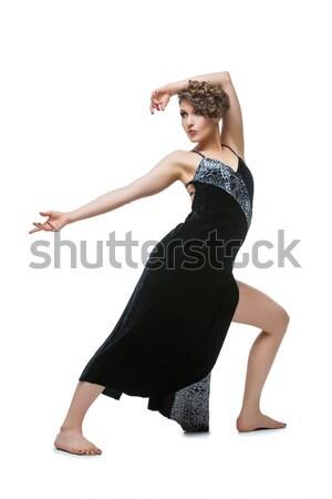 Nina bailarín tango vestido hermosa Foto stock © svetography