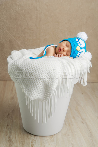 cute newborn baby Stock photo © svetography