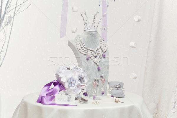 Bridal accessories set Stock photo © svetography
