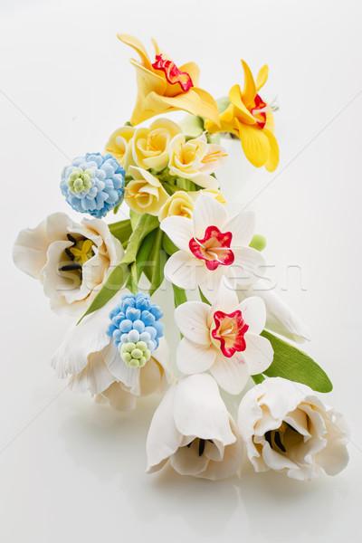 Belle fleur de printemps bouquet art argile Photo stock © svetography