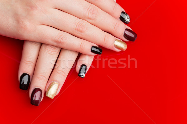 Woman hands with manicure Stock photo © svetography