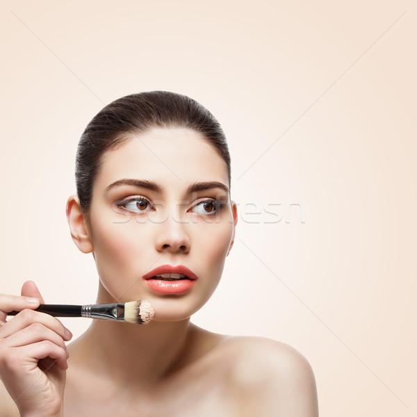 Fille fondation portrait belle jeune femme Photo stock © svetography