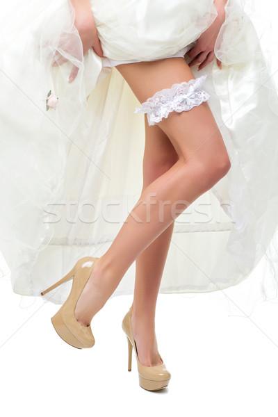 Kadın bacaklar yüksek topuklu güzel ince genç kadın Stok fotoğraf © svetography