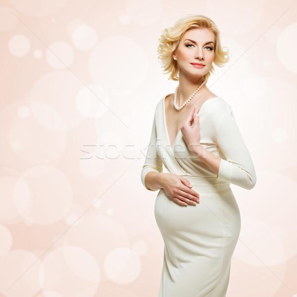 Güzel hamile kadın zarif hamile genç kadın Stok fotoğraf © svetography