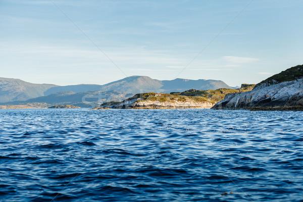 Gyönyörű kilátás norvég szabadtér lövés copy space Stock fotó © svetography