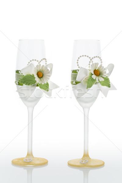 Wedding glasses Stock photo © svetography