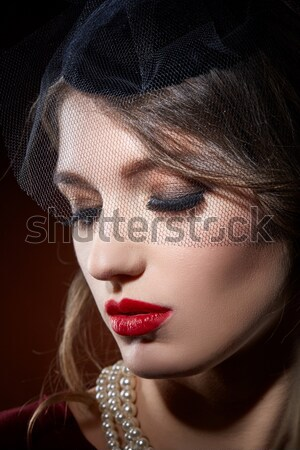 Fille collier portrait belle jeune femme Photo stock © svetography