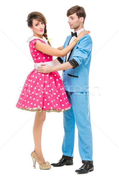 doll looking boy and girl Stock photo © svetography