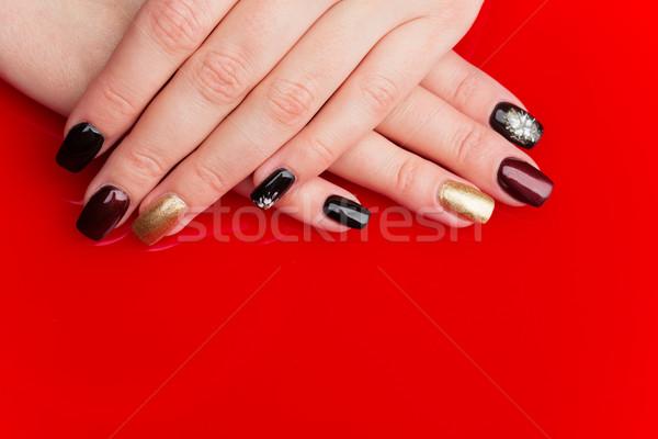 женщину рук маникюр ногти копия пространства Сток-фото © svetography
