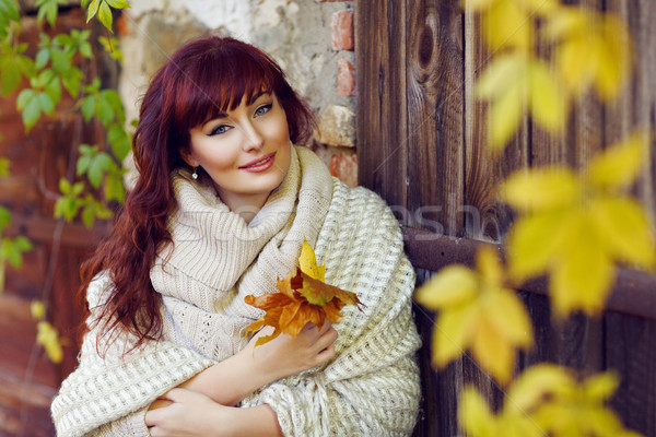 Mooi meisje buitenshuis mooie jonge vrouw Stockfoto © svetography