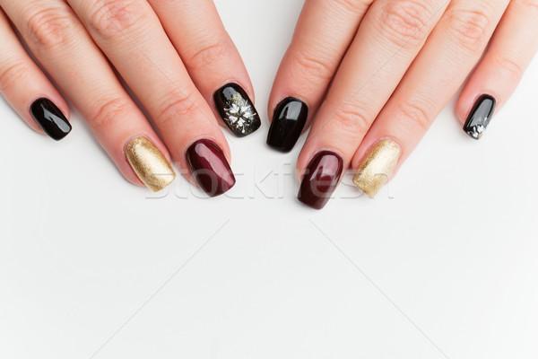 Foto stock: Mulher · mãos · manicure · unhas · cópia · espaço