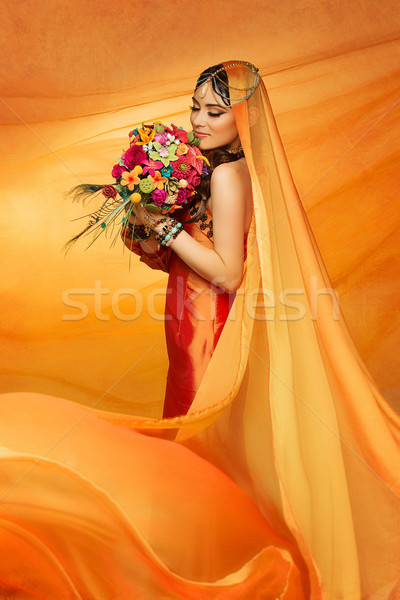 Bride with bouquet Stock photo © svetography