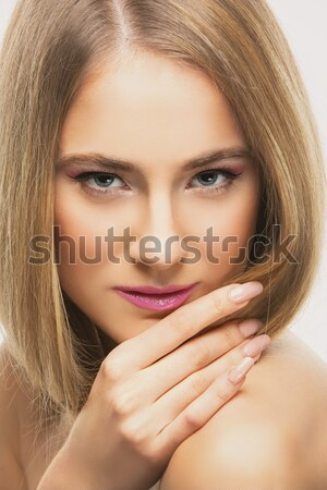 Bella ragazza perfetto pelle bella sciolto Foto d'archivio © svetography