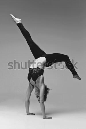 Kız dansçı yukarı güzel genç kadın Stok fotoğraf © svetography