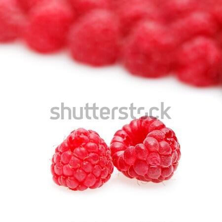 raspberry berries isolated on white Stock photo © svetography