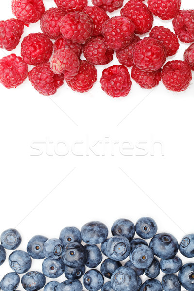 blueberry and raspberry berries isolated on white background Stock photo © svetography
