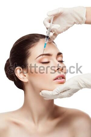 женщину коллаген инъекций красивой красоту Сток-фото © svetography