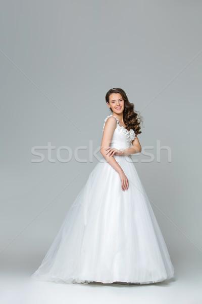красивой молодые невеста девушки счастливым долго Сток-фото © svetography