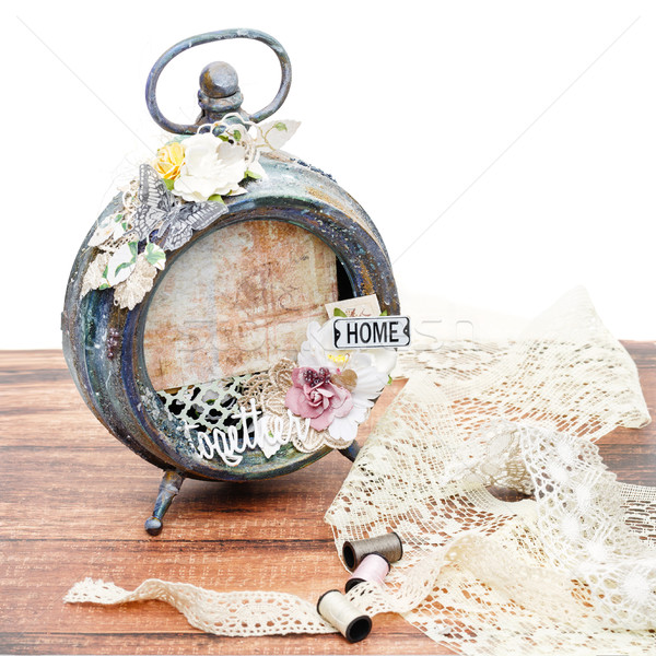 Handmade scrapbooking photo frame Stock photo © svetography