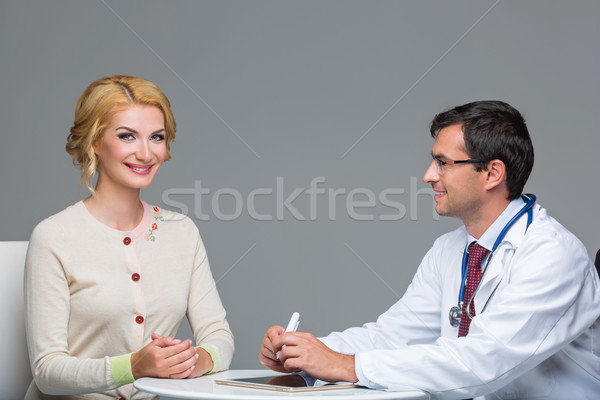 woman at doctor appointment Stock photo © svetography