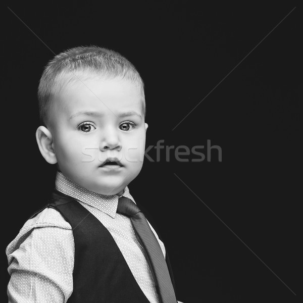 Iş erkek sevimli bebek gömlek yelek Stok fotoğraf © svetography