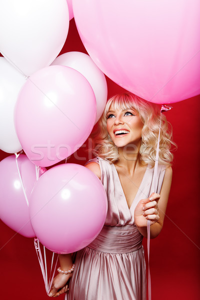 beautiful girl with balloons Stock photo © svetography