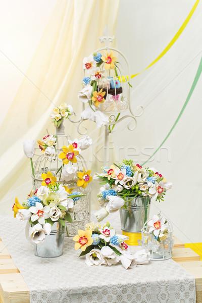 Foto d'archivio: Fiore · decorazioni · set · wedding · accessori · decorazione