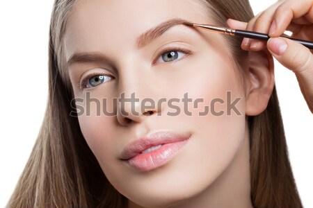 女性 眉毛 フォーム 美人 顔 美 ストックフォト © svetography
