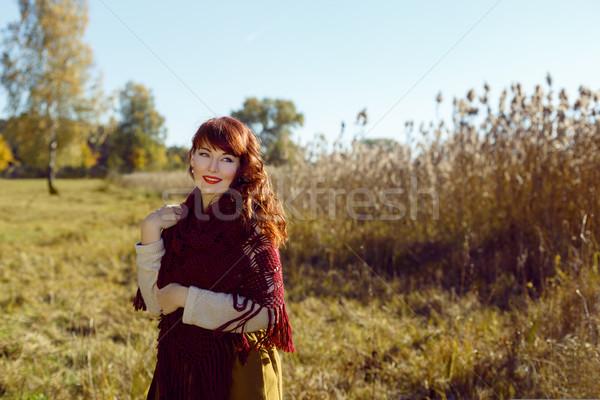 Güzel kız açık havada güzel genç kadın uzun Stok fotoğraf © svetography