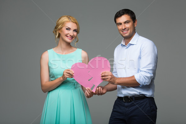 красивой пару розовый Сток-фото © svetography