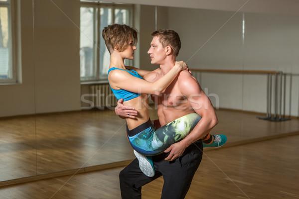 современных танцоры Dance студию красивой Сток-фото © svetography