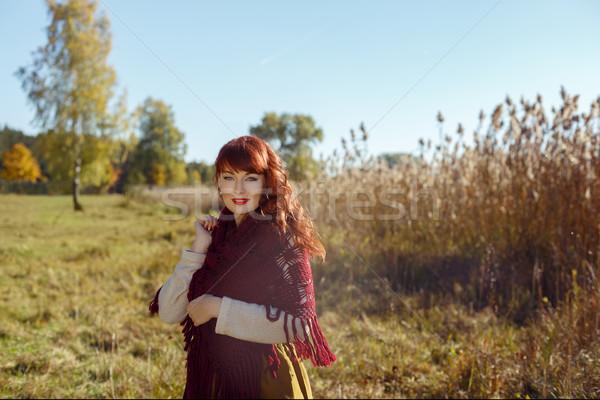 ストックフォト: 美少女 · 屋外 · 美しい · 若い女性 · 長い