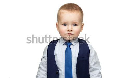 Negocios nino empate cute bebé camisa Foto stock © svetography