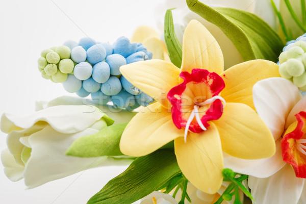 красивой весенний цветок букет ручной работы искусства глина Сток-фото © svetography