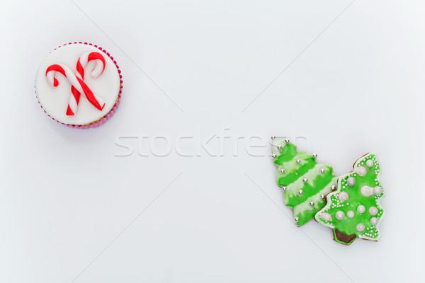 Stok fotoğraf: Yılbaşı · kurabiye · biçim · kardan · adam