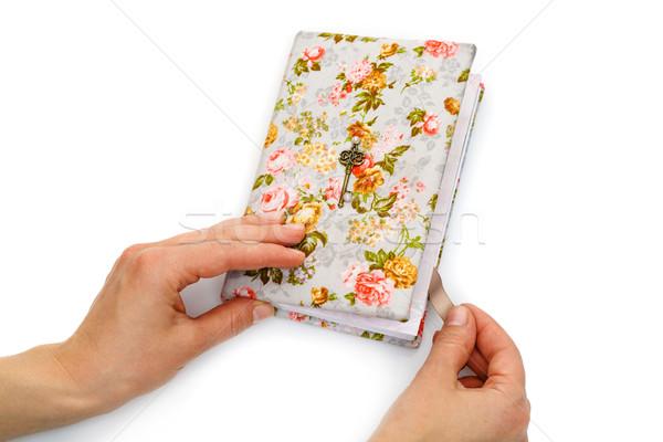 Wykonany ręcznie notebooka podkowy dodaj do ulubionych piękna papieru Zdjęcia stock © svetography