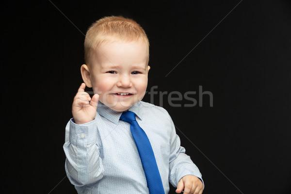 Business jongen stropdas cute baby shirt Stockfoto © svetography