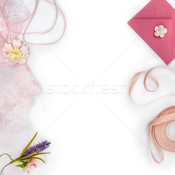 Matériaux belle vintage pâle rose Photo stock © svetography