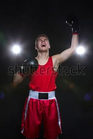 Jovem boxeador vermelho esportes terno Foto stock © svetography