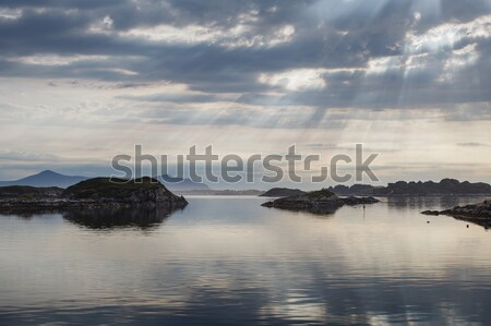 Beautiful view on norwegian fjords Stock photo © svetography